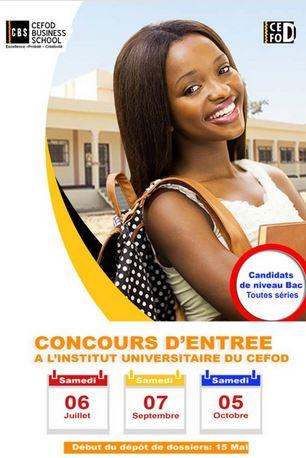 Concours d'entrée au CEFOD Business School